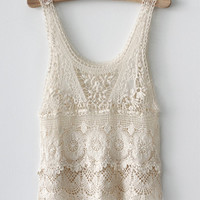 Prevent bask in hook knitted blouse sleeveless vest