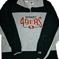 Vintage Lee Sport San Francisco 49ers Forty Niners Fleece Jacket Mens Size Large