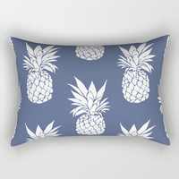 Pineapple Blues Rectangular Pillow by allisone