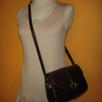 VINTAGE GUCCI BROWN SHOULDER BAG HANDBAG PURSE