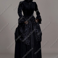 Renaissance Black Game Of Thrones Winter Dress Steampunk Theater Clothing N 331