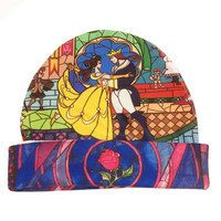 Beauty and the Beast Stained Glass Hat | Disney Princess | Belle Winter Hat