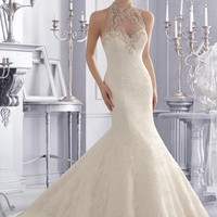 Mori Lee 2675 Sheer Back Wedding Dress
