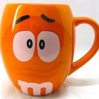 MM's Big Face Ceramic Mugs (Orange) m&m m & m