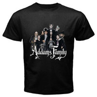 New The Addams Family TV Series Men's Black Tee T-Shirt Size S-3XL