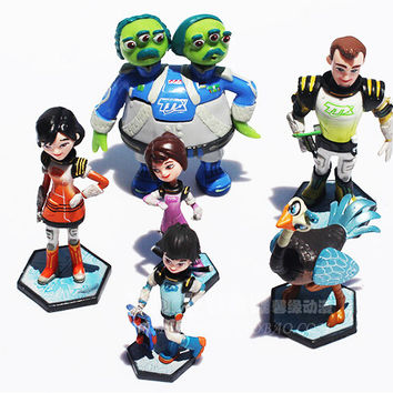 6 Pcs/Set Miles From Tomorrowland Missions PVC Dolls Figure Model Toys Christmas Gift For Children