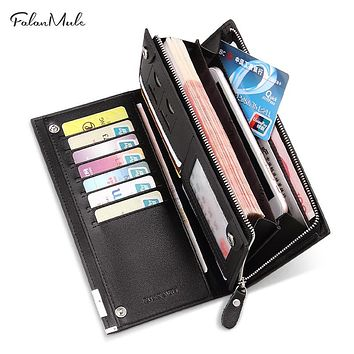 Men Wallets Long Men Purse Wallet Male Clutch Genuine Leather Wallet Men Business Male Wallet Coin Purse