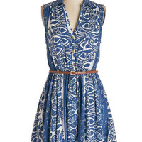 ModCloth Mid-length Sleeveless A-line Mirth Your While Dress
