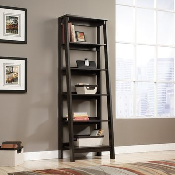 Sauder Trestle 5-Shelf Bookcase - Jamocha Wood | Hayneedle