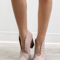 Call Me Later Blush Booties