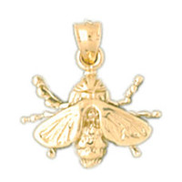 14K GOLD BEE CHARM #3175