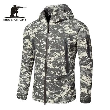 MEGE Upgraded sharkskin tactical V6.0 Hunt jacket windbreaker men's military cloth windcheater army coat with caulking treatment