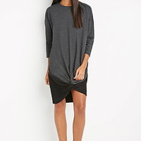 Twisted-Front Sweatshirt Dress
