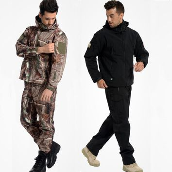 Camouflage Shark Skin Lurkers Fleece Jacket (Waterproof)