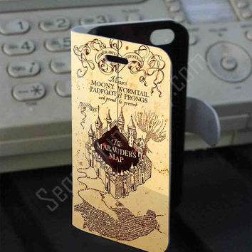 Marauder's Map harry potter Leather Folio Case for iPhone and Samsung Galaxy