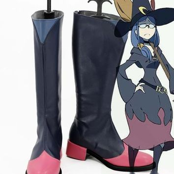 Little Witch Academia Atsuko Kagar hero cosplay costume lolita unisex punk  party shoes halloween boots