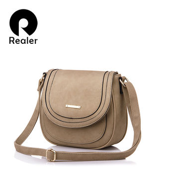 REALER Brand Women Saddle Bag High Quality Women Messenger Bags Lady Casual Bags artificial leather Crossbody Bags
