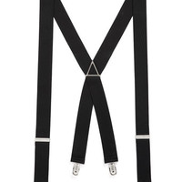 BLACK VINTAGE PLAIN SUSPENDERS - Suspenders  - Shoes and Accessories