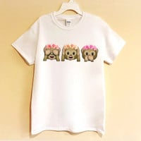 Flower Crown Monkey Emoji Shirt/Sweatshirt/ crop top - flower crown - monkey - emoji - tumblr - shirt - graphic tee - trending top - trendy