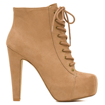 Layla Suede Booties - Taupe
