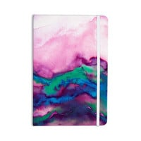 "Ebi Emporium ""Winter Waves 2"" Pink Watercolor Everything Notebook"