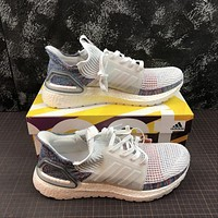 Adidas Ultra Boost 2019 UB 5.0 White Multi-Color Sport Running Shoes