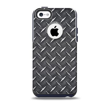 The Black Diamond-Plate Skin for the iPhone 5c OtterBox Commuter Case