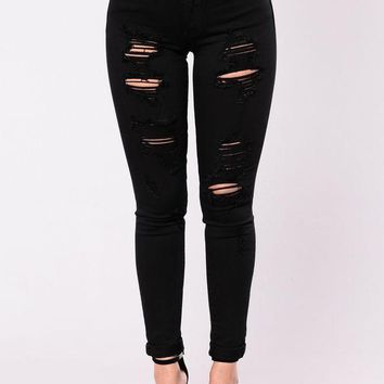 PEAPOP6 Menace Jeans - Black