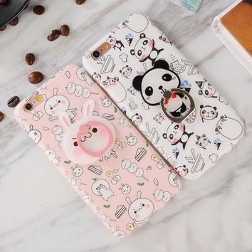 Panda Rabbit phone case Shell case Cover For iPhone 6/6S 7 plus Christmas Gift