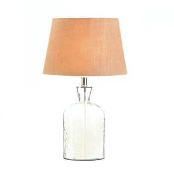 Table Lamp-Hammered Glass Jug