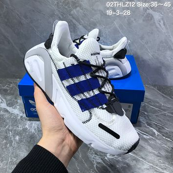 hcxx A1140 Adidas Yeezy Boost 600 Flyknit Breathable Retro Sports Running Shoes White Blue Gray