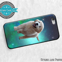 Puppy in Space Dog Galaxy Funny Rubber Case for NEW iPhone 6S, NEW iPhone 6S Plus, iPhone 6, iPhone 6 Plus, iPhone 5S, iPhone 5, iPhone 5C