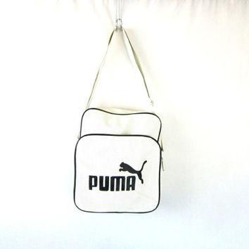 25% OFF SALE Puma Sports Bag duffel Messenger bag athlete Pack black and white travel