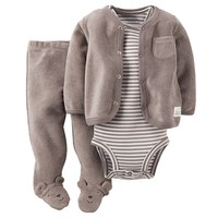 Carter's Bear Terry Cardigan Set - Baby Boy, Size: