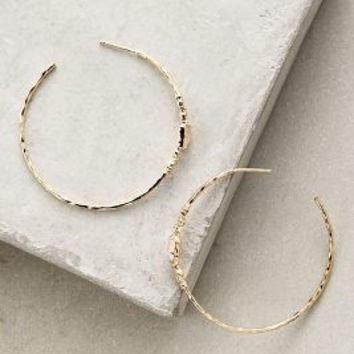 Glimpse Hoops by Anthropologie in Gold Size: One Size Earrings