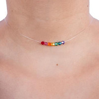 Rainbow Floating Crystal Choker