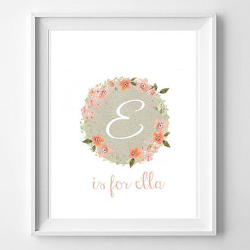 girls nursery wall art, printable nursery art