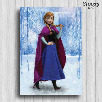 disney princess frozen anna print nursery girl wall art