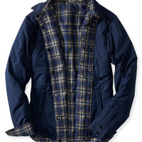 Reversible Solid & Plaid Puffer Jacket