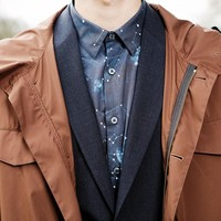 Paul Smith Men's Shirts | Navy Cosmos Print Shirt