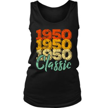 Women's Vintage 1950 Classic 68th Retro Birthday Tank Top