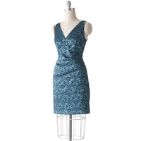 corey p Jacquard Empire Sateen Dress