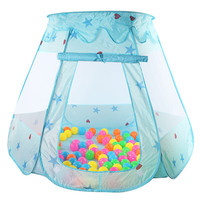 120*90*70CM Baby Play Pool Folded Portable Kids Outdoor Game Hut Pool Play Tent for Children Blue and Pink for Optinal