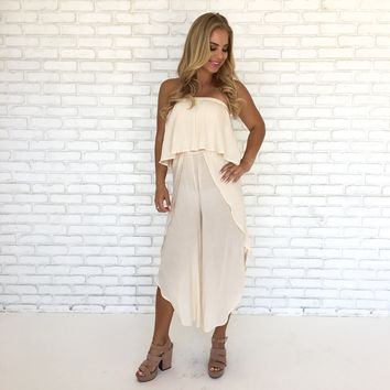Bora Bora Jumpsuit in Ivory