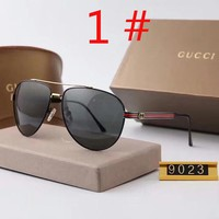 GUCCI New fashion polarized stripe men business casual glasses eyeglasses