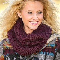 Coming To Town Infinity Scarf-Plum Wine
