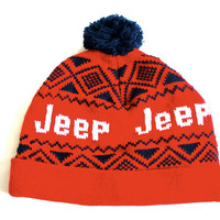 Red and Blue JEEP Winter Hat