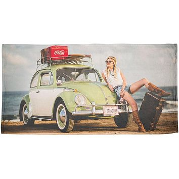 Punch Buggy Wanderlust Travel Girl All Over Beach Towel