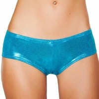 Turquoise Shimmer Booty Shorts