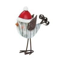 Metal Flying Santa Bird Christmas Decor